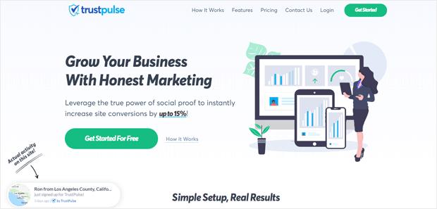 TrustPulse - лучшее приложение для проверки социальных сетей для WordPress